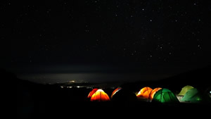 Barranco Camp Site at Night