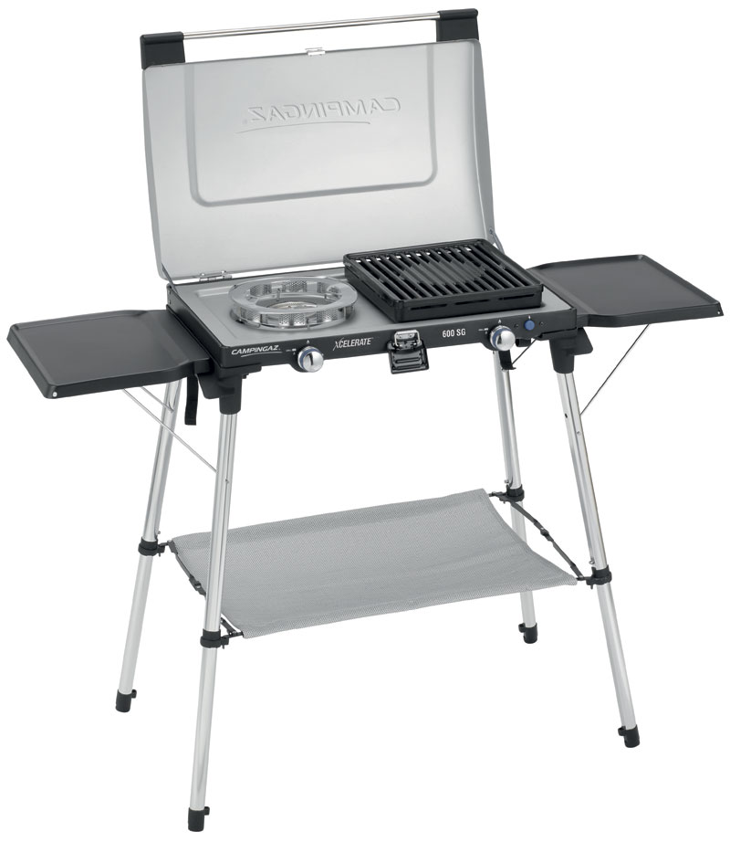 Campingaz 600-SG Two Burner Stove With Stand and Griddle Plates