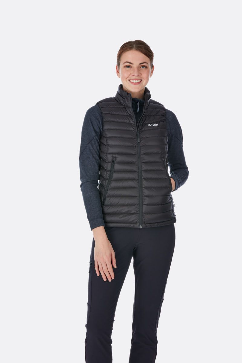 Rab Womens Microlight Vest Black/Seaglass