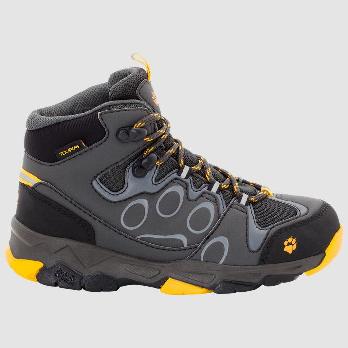 Jack Wolfskin Mountain Attack 2 Mid Burly Yellow Kids boots